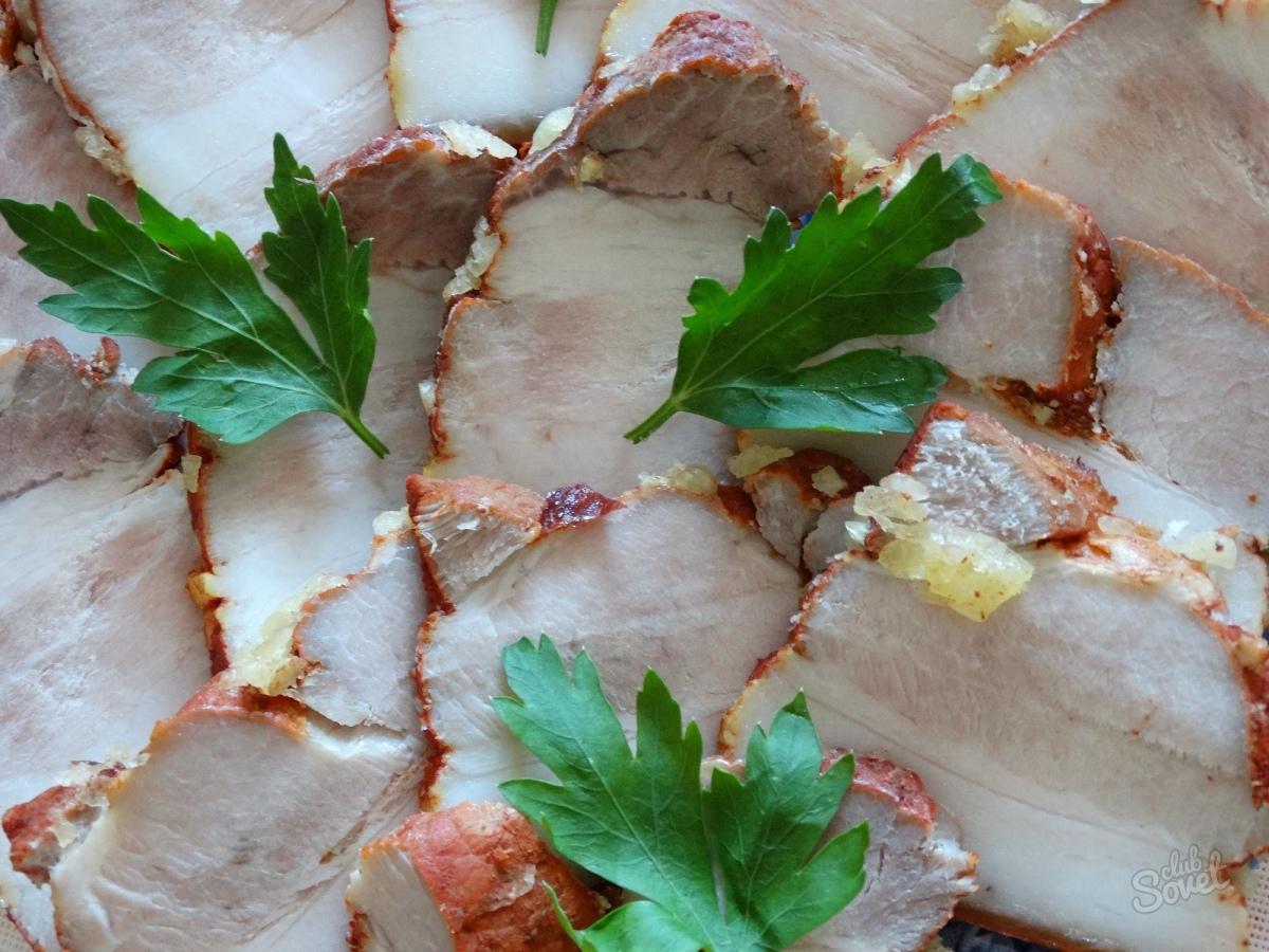 Рецепт вареной грудинки в луковой шелухе пошагово