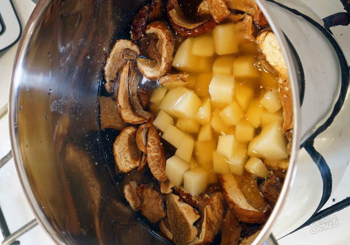 Сушеные белые грибы как их приготовить