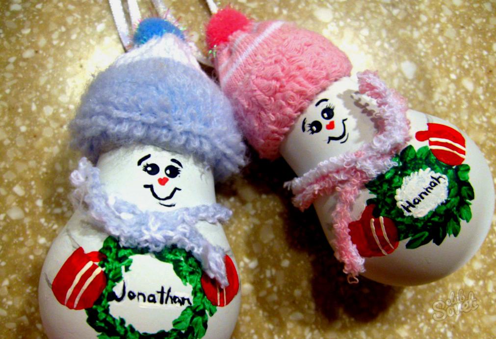 Новогодние поделки из игрушек 711