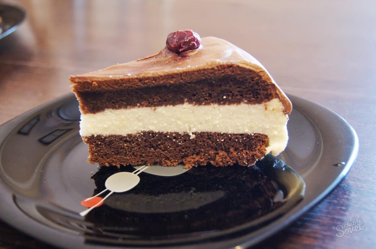 Быстрый торт с творожным кремом
