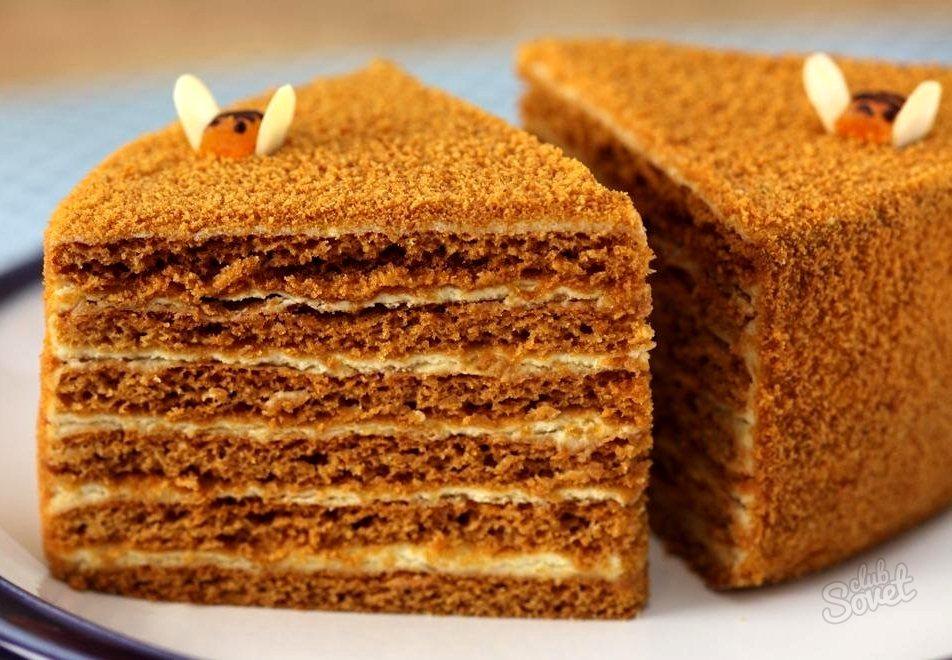Торт рыжик классический рецепт с фото пошагово со сгущенкой