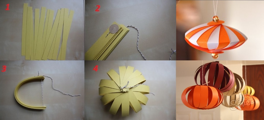 Сделай сам бумажный фонарик своими руками 90