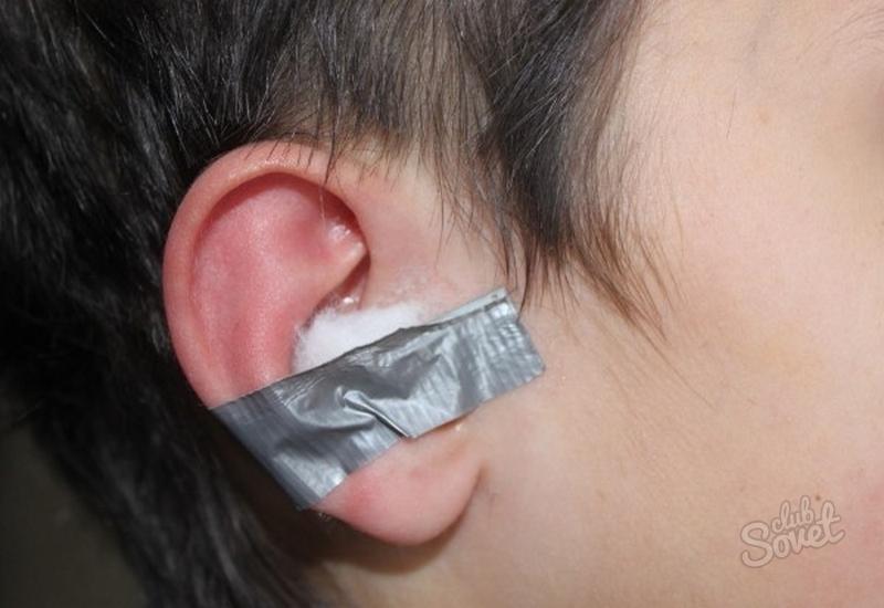 компресс при боли в ухе фото
