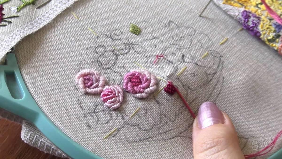 Вышивка нитками на ткани своими руками 53