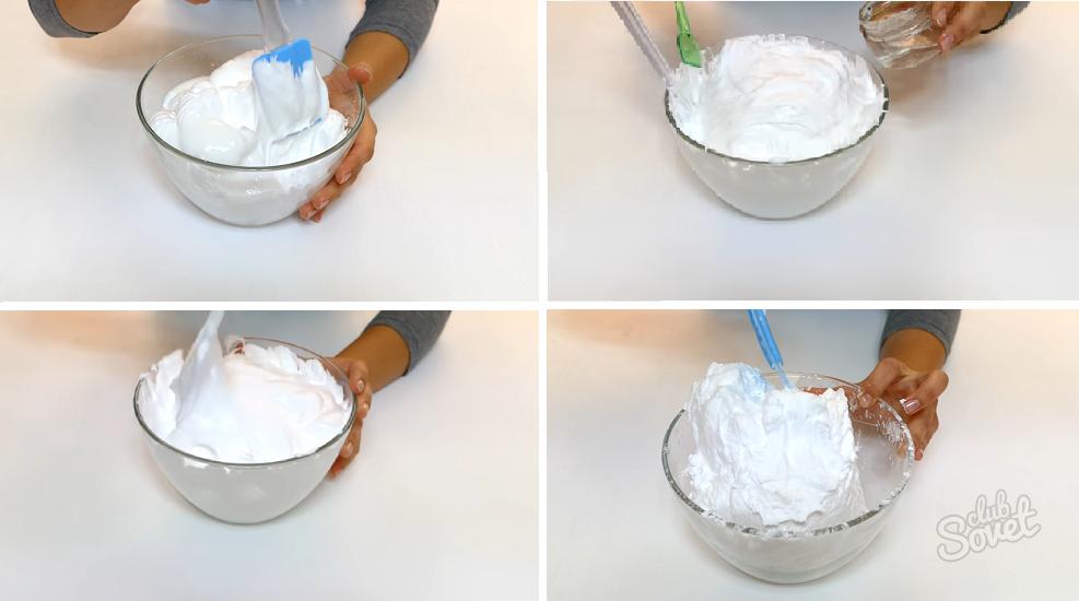 Как сделать слайм в домашних условиях из пены для бритья и клея пва и