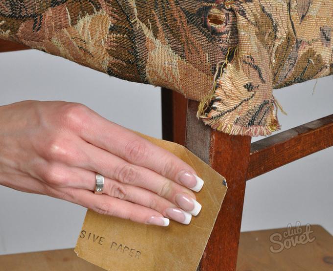 Как перетянуть стул своими руками фото