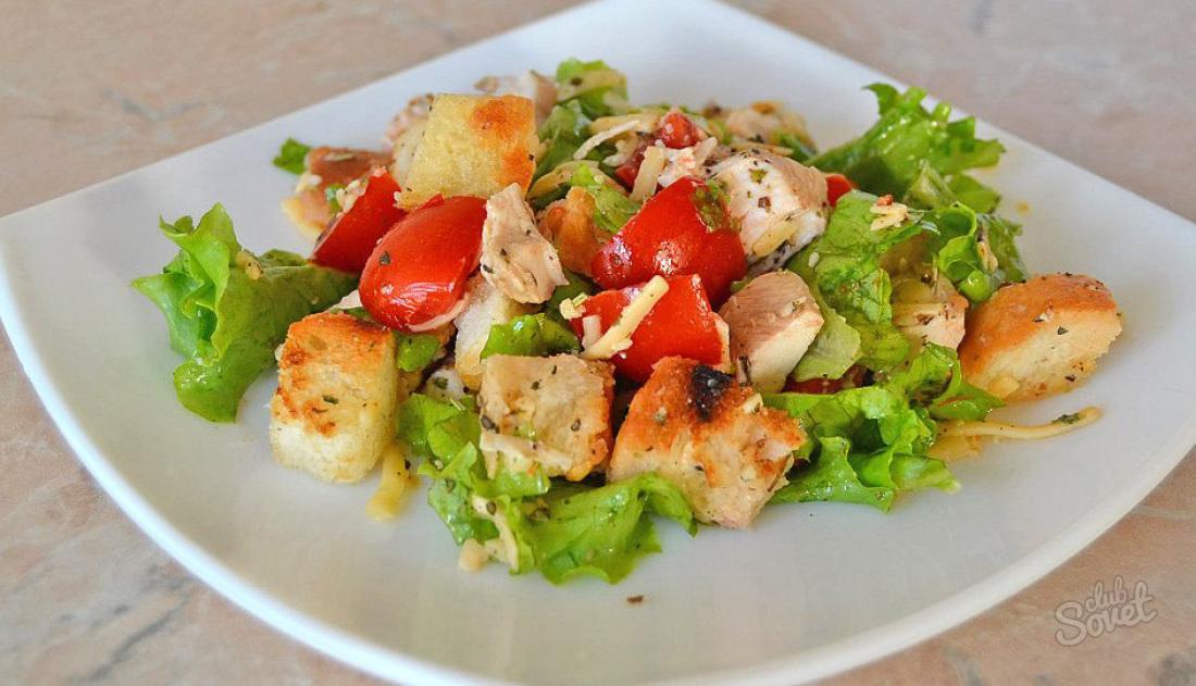 салат цезарь с курицей классический рецепт с фото