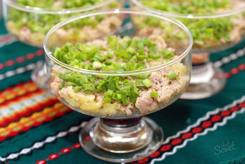 Салат с треской рецепт слоями с