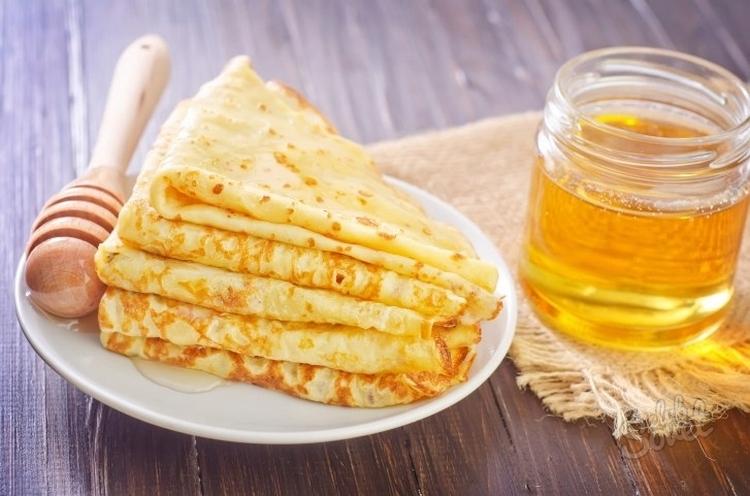Блинчики с медом рецепт
