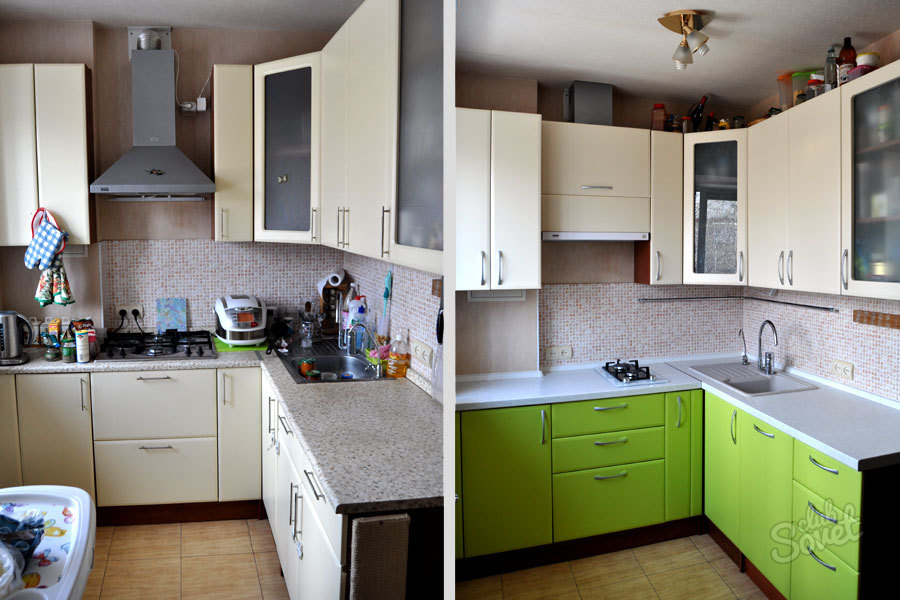 Реставрация кухонного гарнитура своими руками фото