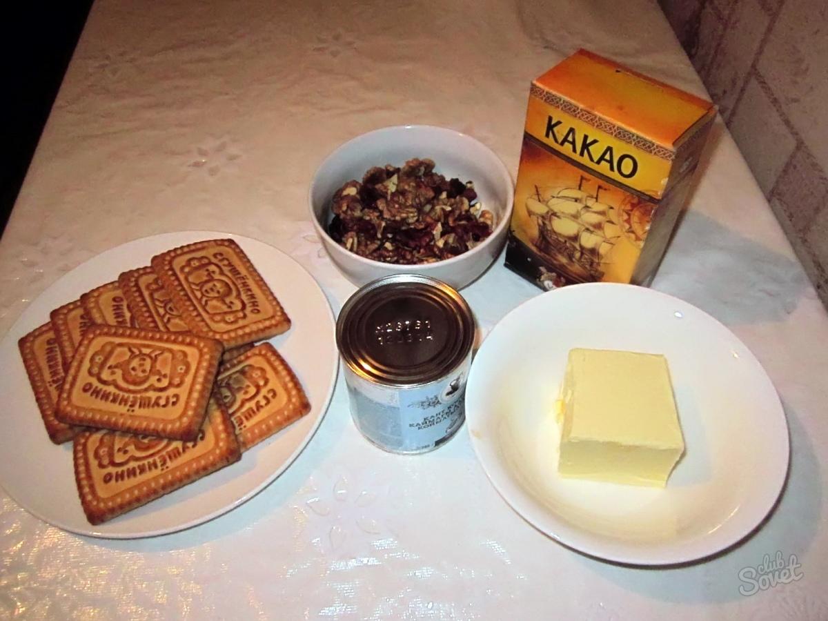 Пирожное картошка из печенья в домашних условиях рецепт пошагово с