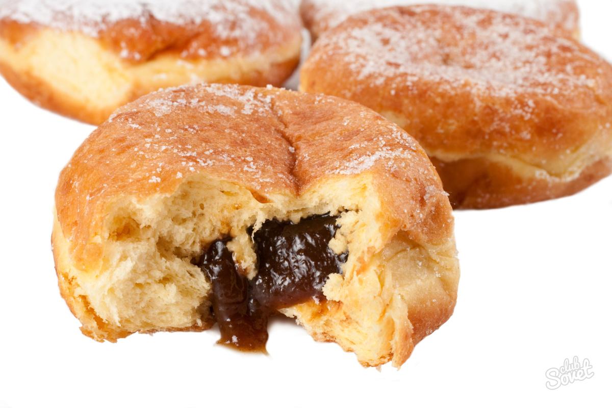 Пончики с начинкой рецепт пошаговый рецепт