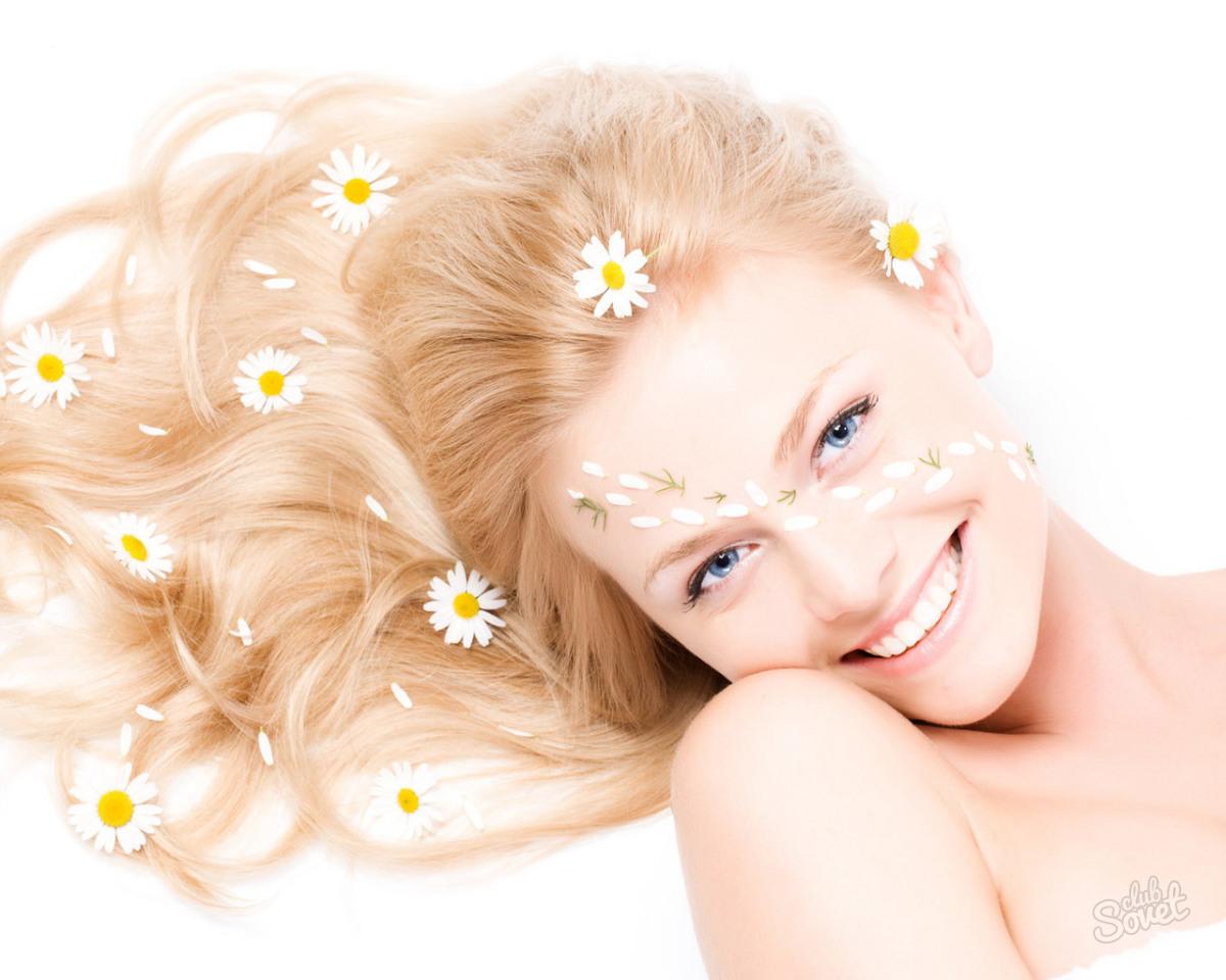 Отвар ромашки для осветленных волос