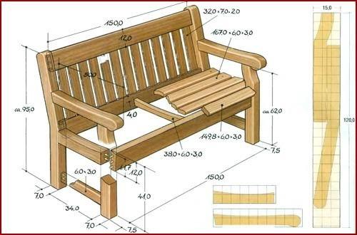 Как изготовить садовую скамейку