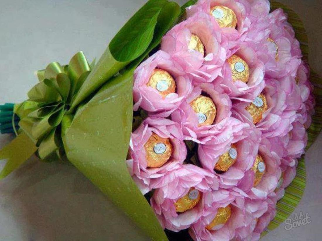 Букет своими руками из конфет цветов