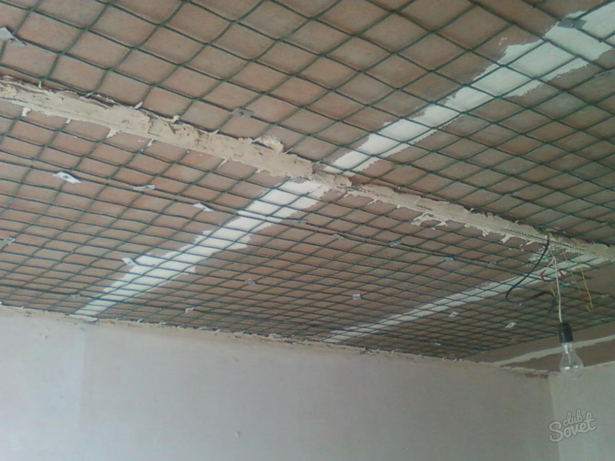 Штукатурка потолка фото