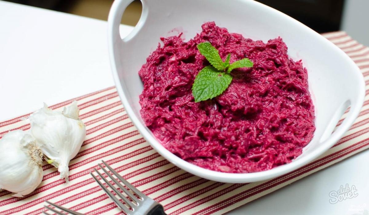 Салат из свеклы с рецепт