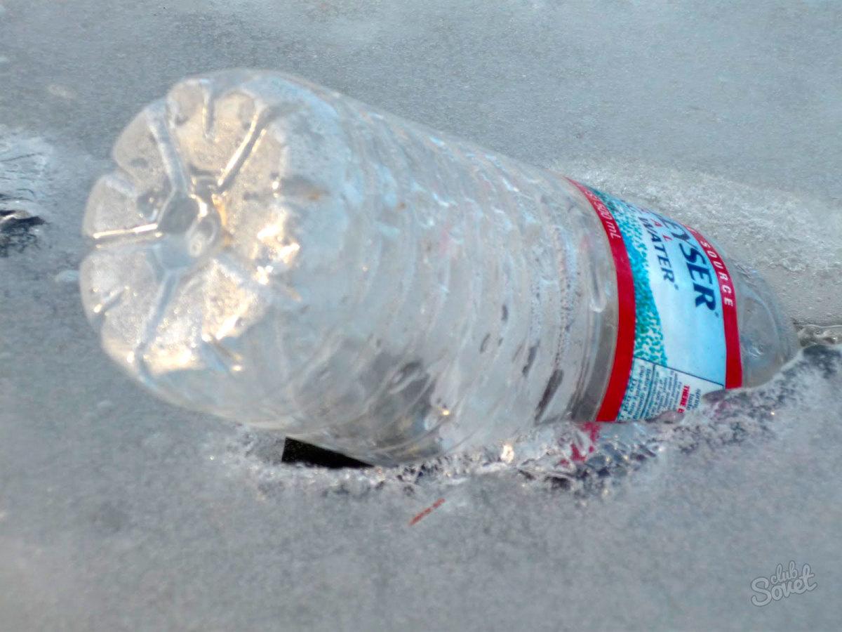 Как сделать бутылку во льду