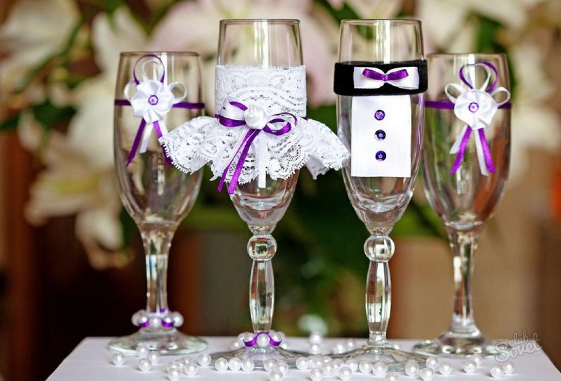 Как сделать самому свадебный бокал 287