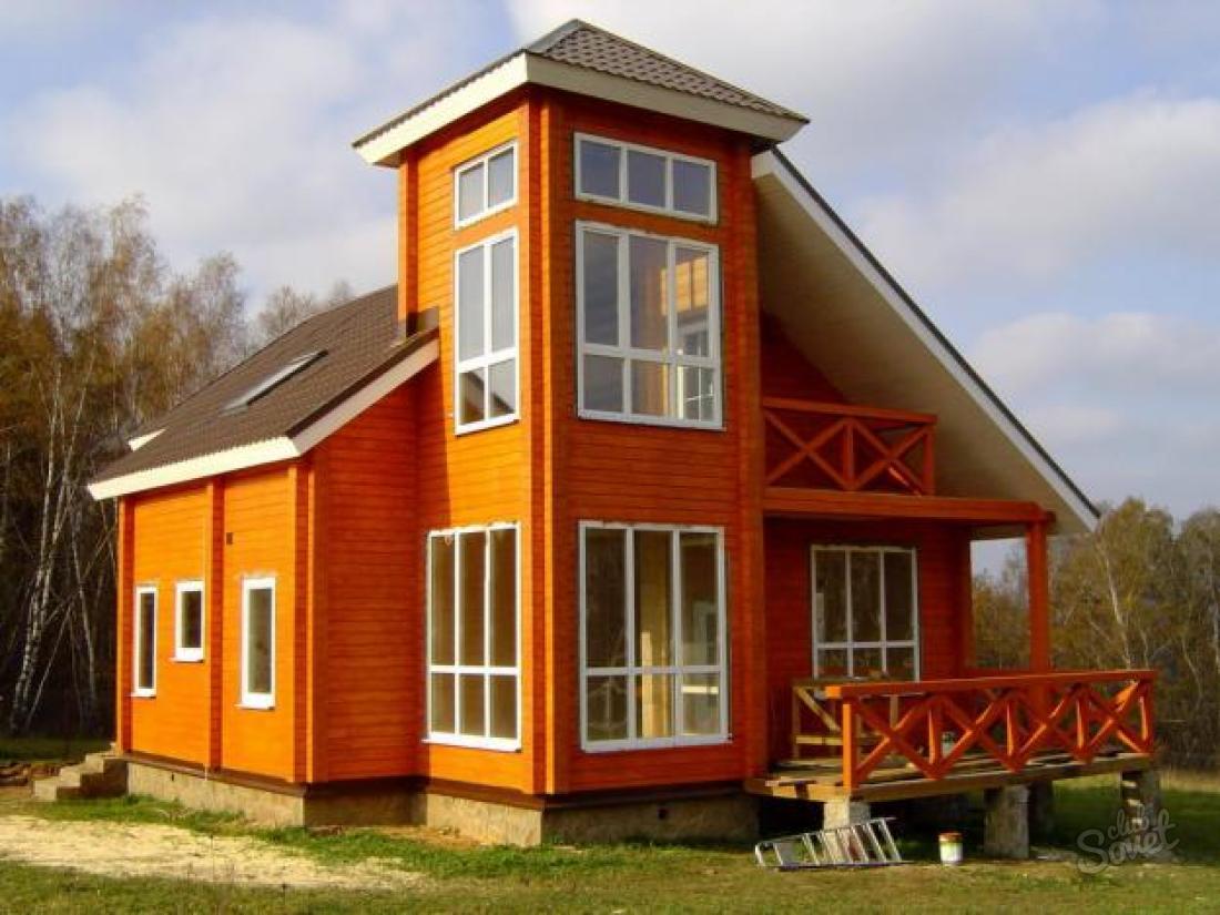 Дизайн дома из бруса снаружи