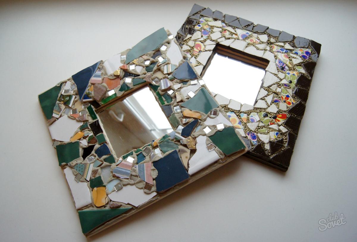 Декор зеркала своими руками мастер класс фото