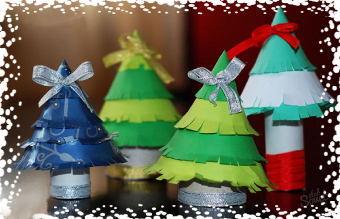 Как сделать новогоднюю елку из бумаги своими