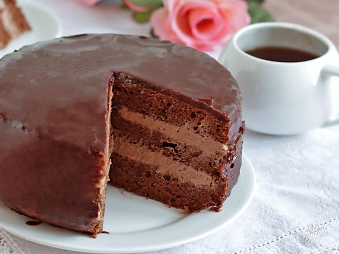 Рецепт шоколадного торта пошагово с 144