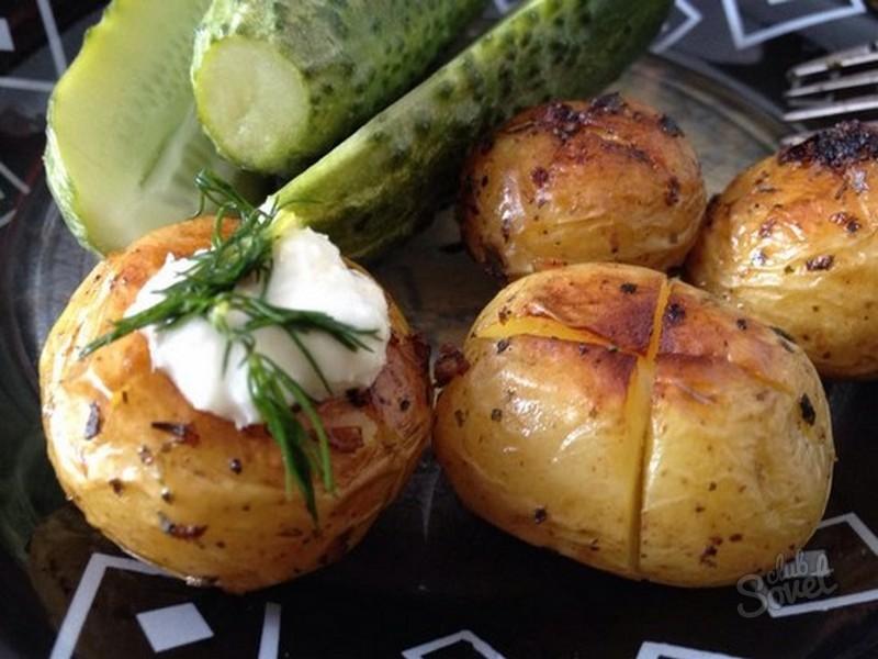 Рецепт картошки мелкой в духовке