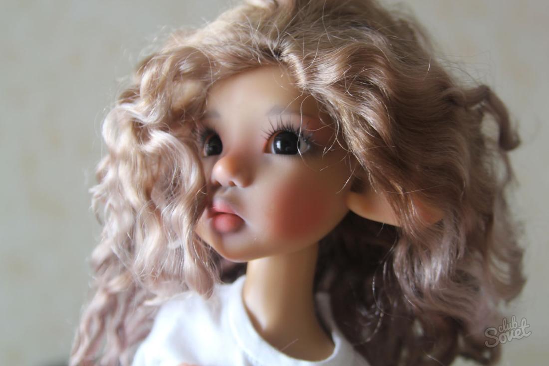 Как кукле сделать парик для куклы 578