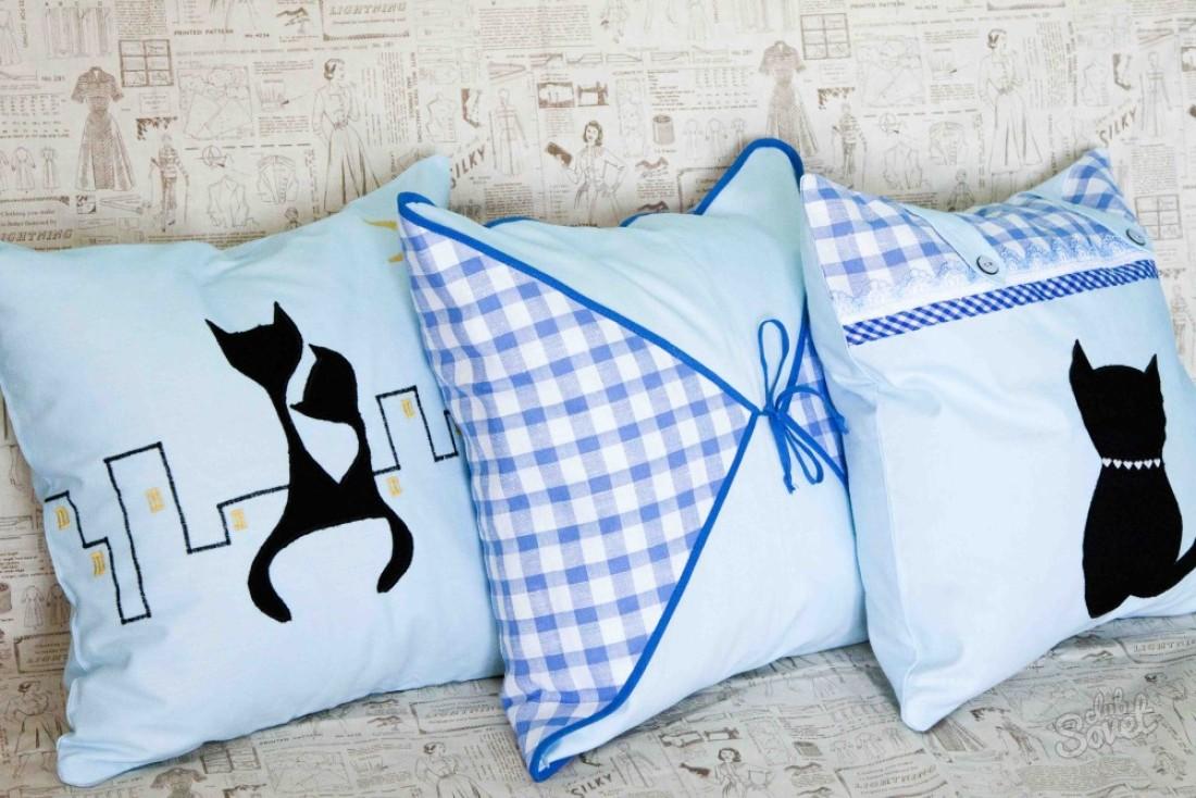 Как сшить красивую подушку своими руками 17
