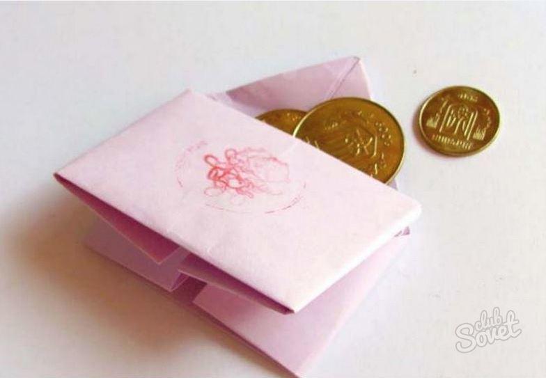 Кошелек из бумаги по