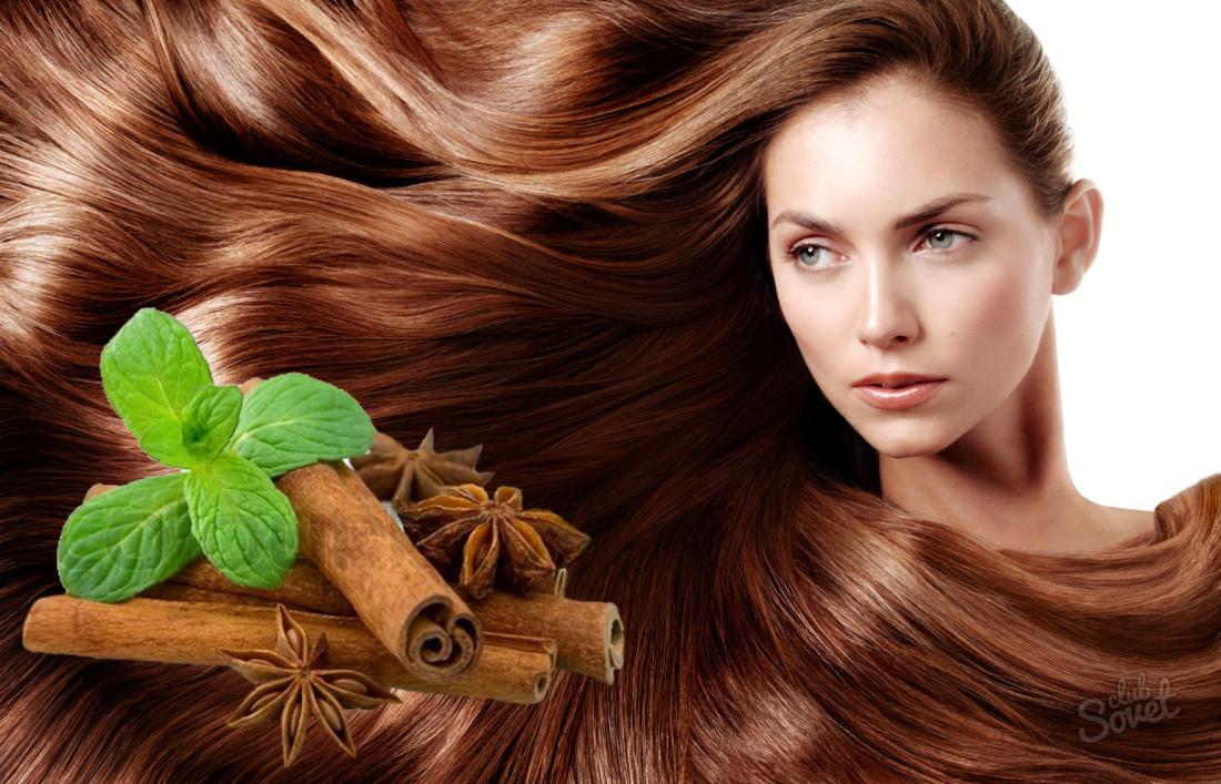 Фото осветленных корицей волос