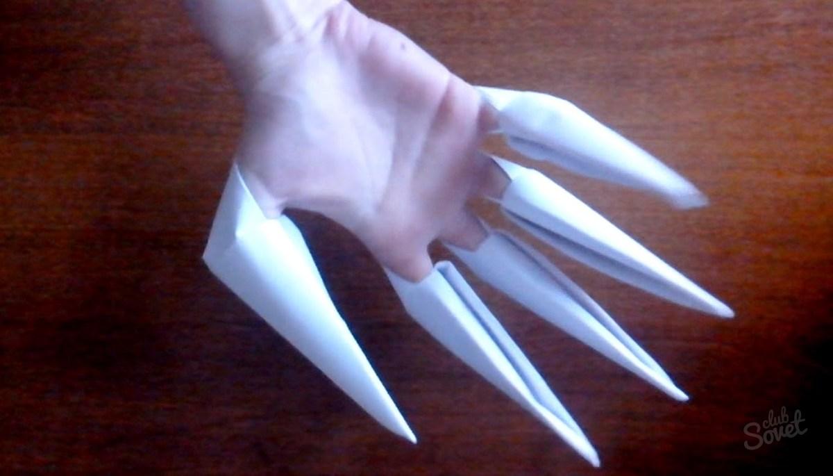 Как на сделать когти росомахи