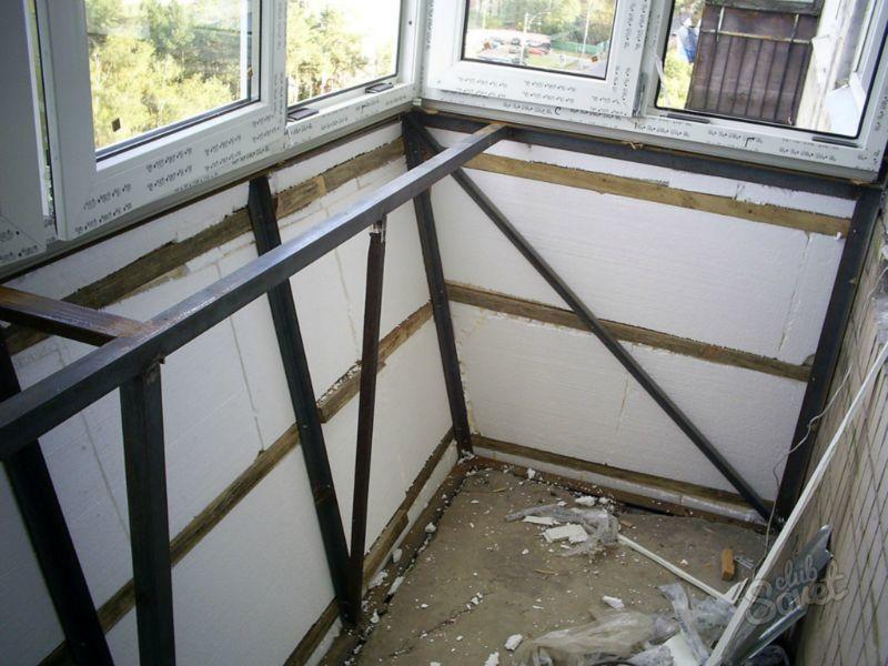 Как сделать стены у балкона которых нет