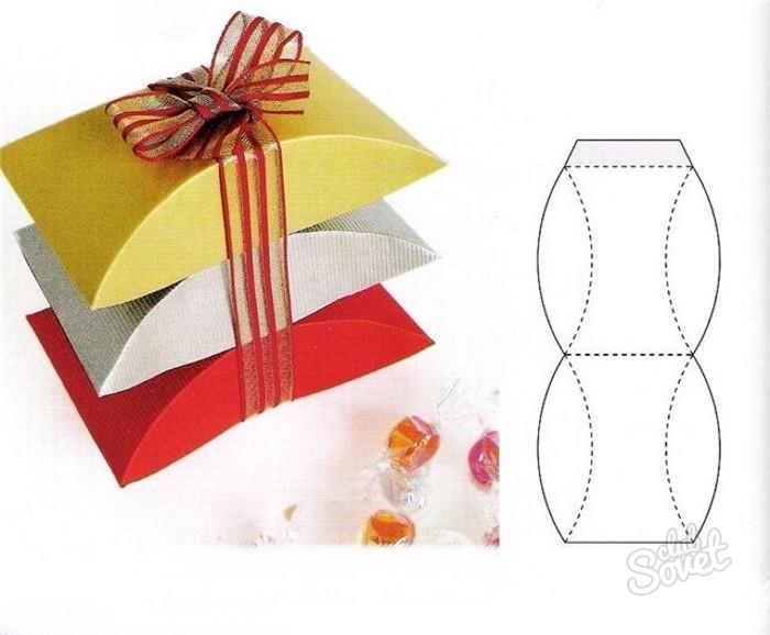 Как делать подарочные коробочки из бумаги своими руками