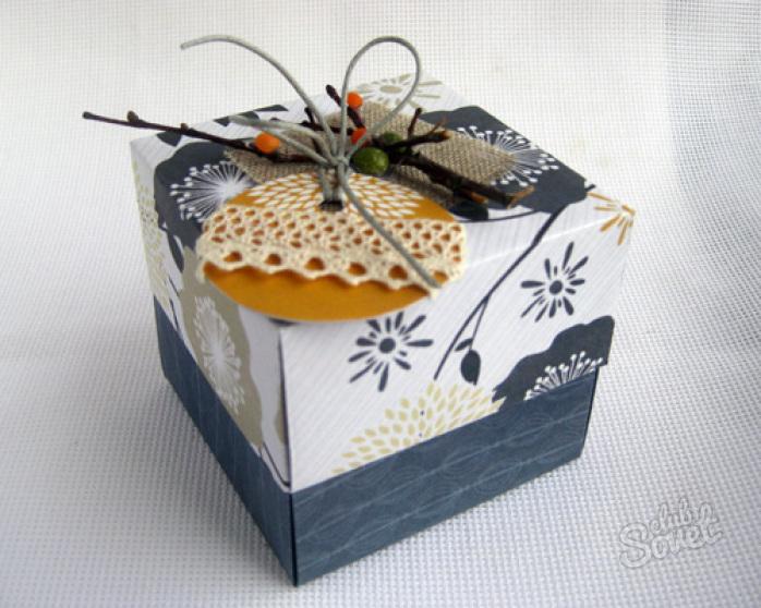 Подарочная коробка из картона своими руками фото