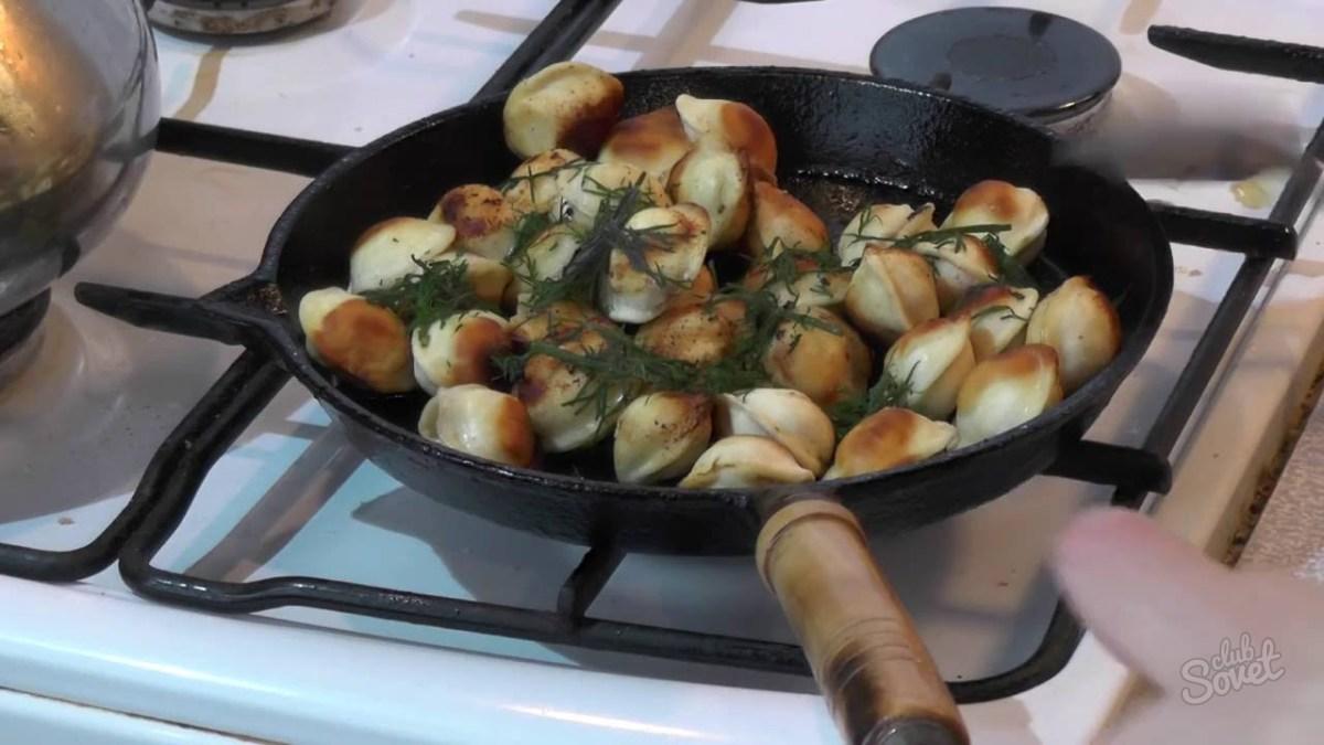 Как вкусно пожарить пельмени в сковороде
