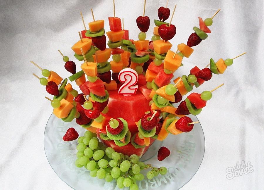Фруктовые салаты для детского дня рождения рецепты с