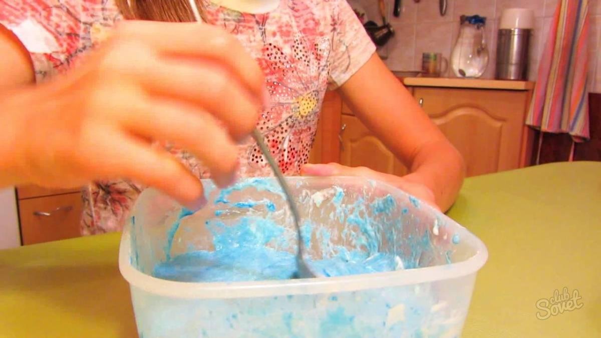 Как сделать лизуна из муки и воды и соли
