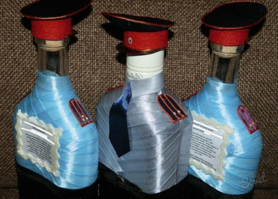 Подарок из бутылок папе 627