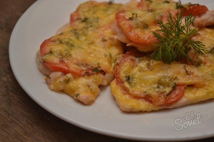 Рецепт куриной грудки в духовке с помидорами и сыром рецепт с пошагово