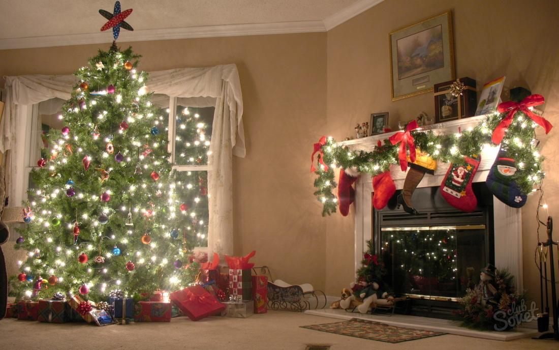 Картинки украшений дома к новому году