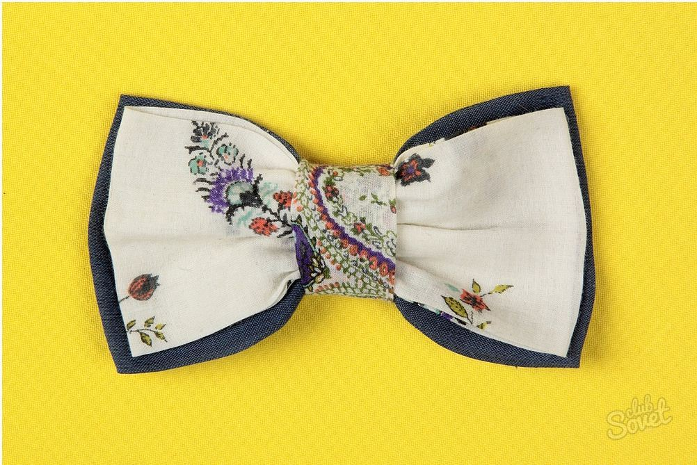 Галстук бабочки из ткани своими руками мастер