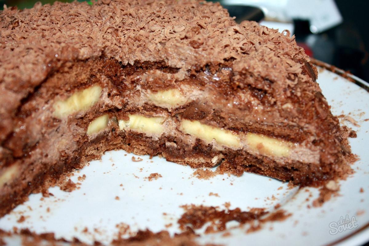 Пряничный торт с бананом рецепт