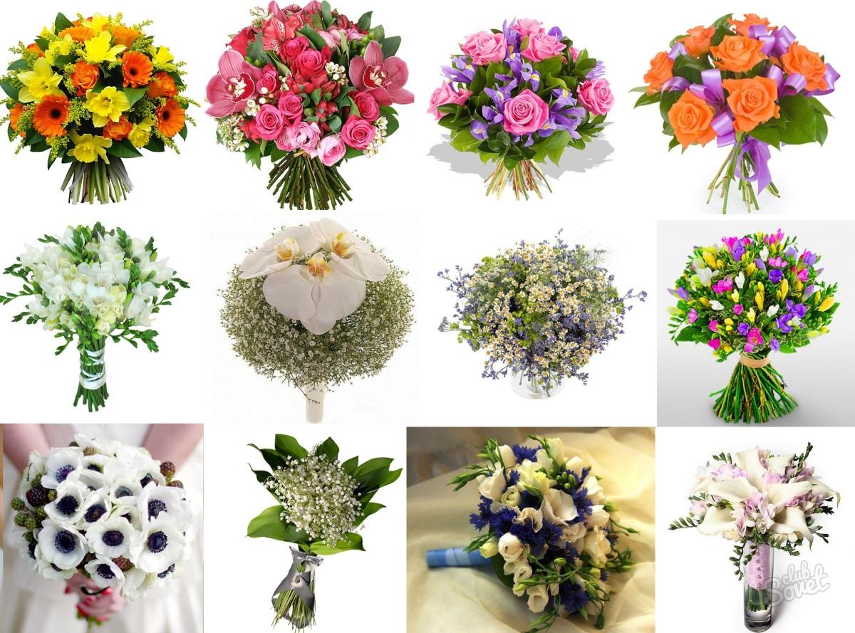 Составление букетов из живых цветов 48