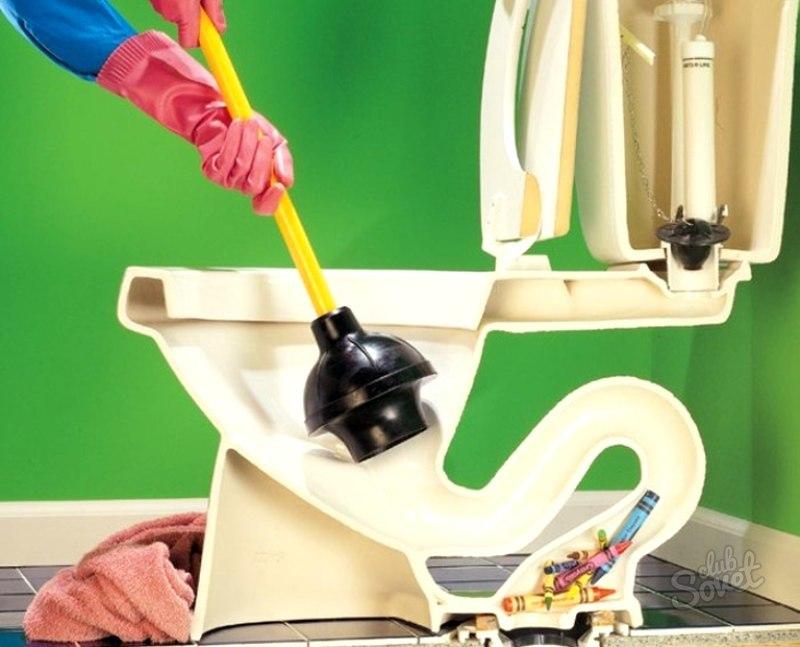Как в домашних условиях прочистить засор в унитазе в домашних условиях