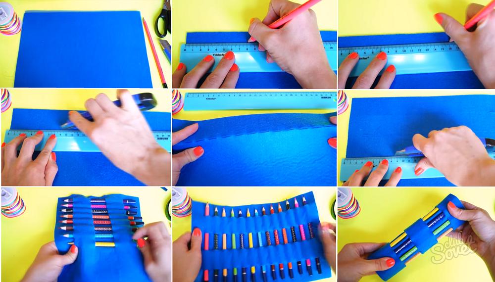 Как сделать пенал своими руками как украсить пенал Hand-made