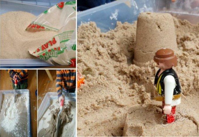 Молотый песок своими руками