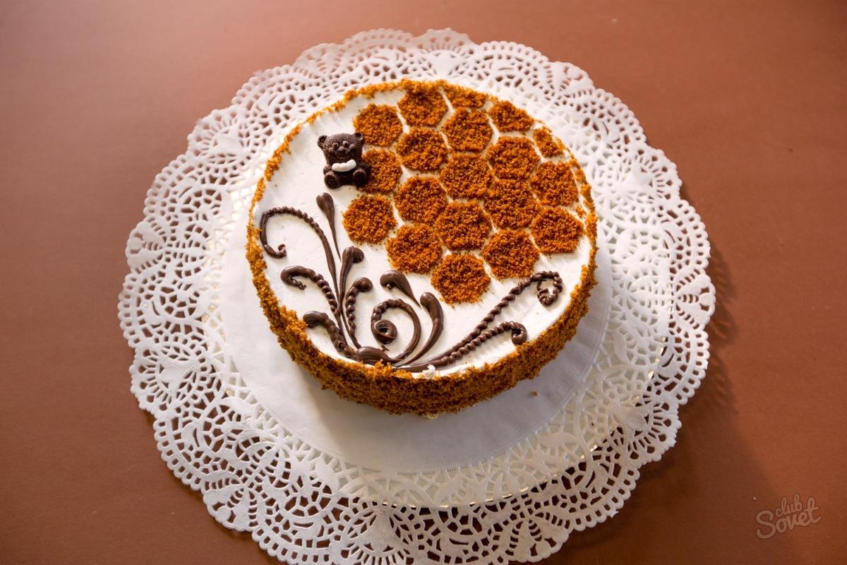 Украшения торт медовик в домашних условиях