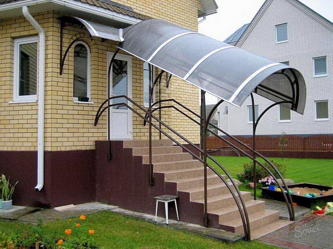 Навесы на крыльцо из поликарбоната фото к частному дому своими руками 84